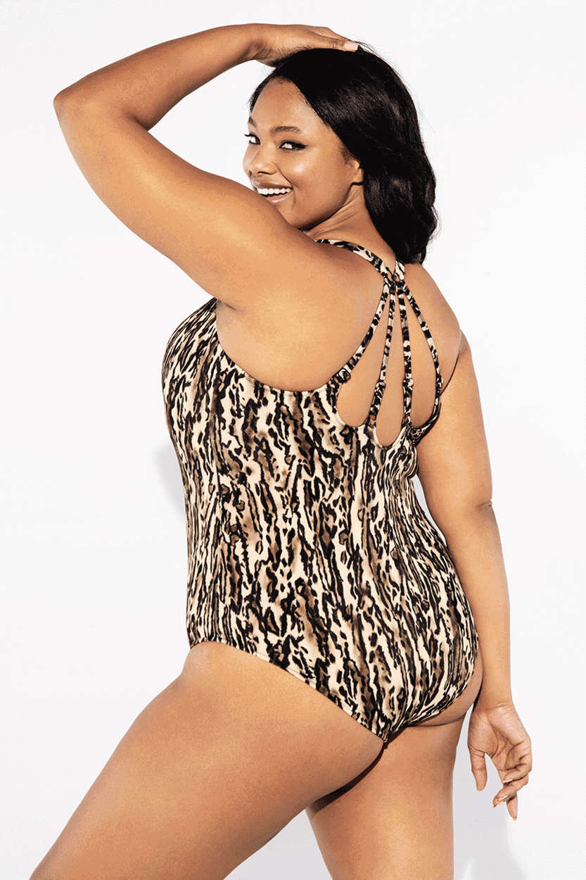 Elomi Swimwear, Fierce in Black, Moulded Swimsuit