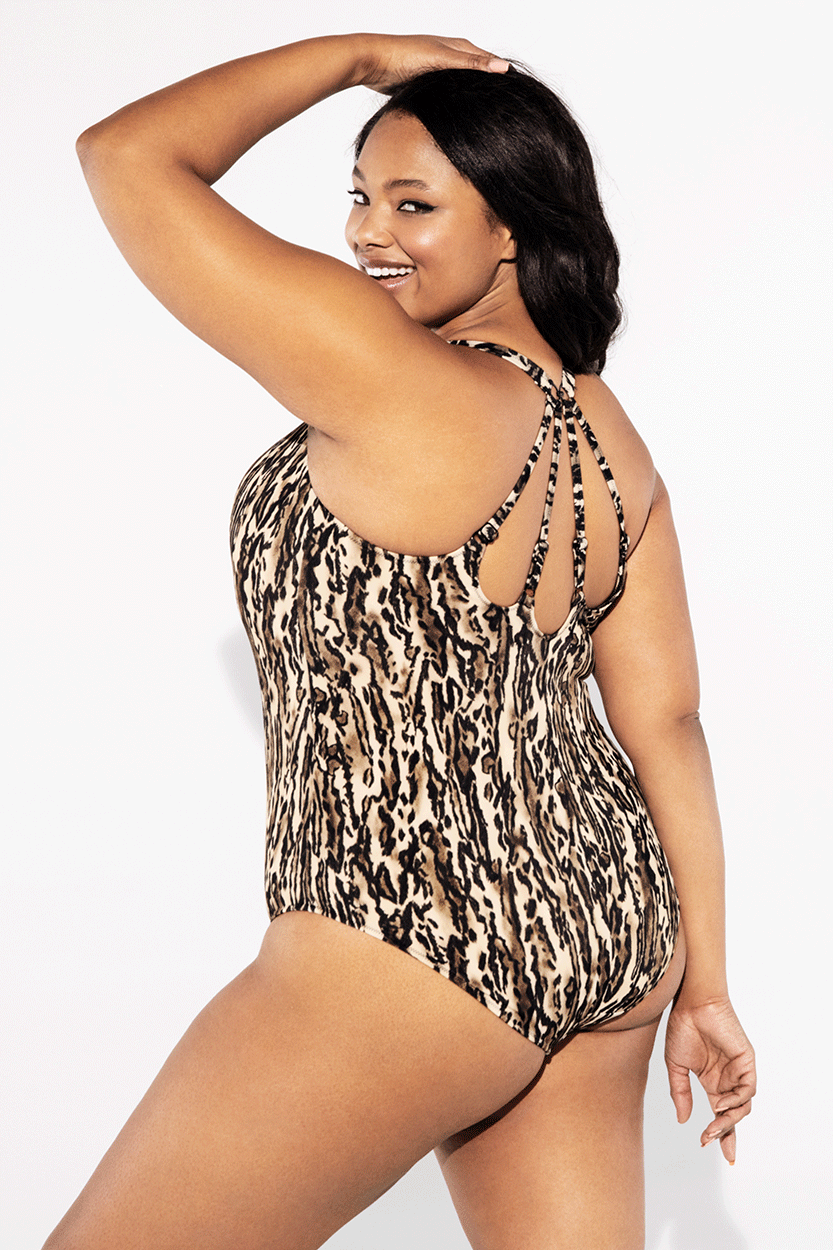 Elomi Swimwear, Fierce in Black, Moulded Suit